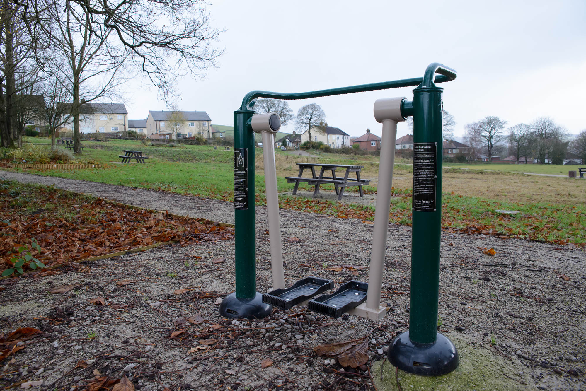 Outdoor gym facilities at Furness Vale