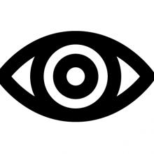 Black outline of an eye
