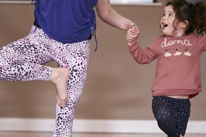 Mum and daughter yoga pic - JTM