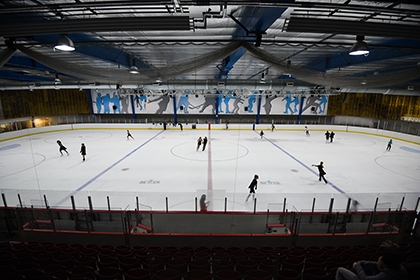 A wide shot of Streatham Ice Rink
