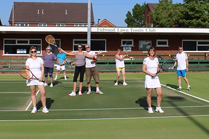 Fulwood LTC members pose last summer