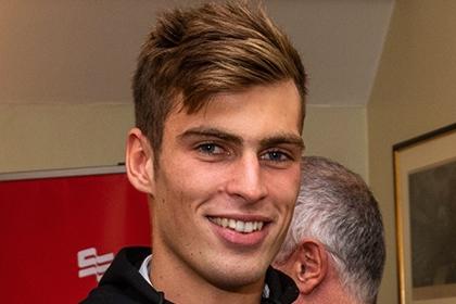 Headshot of Elliot Mchugh, youth volunteer for Swim England