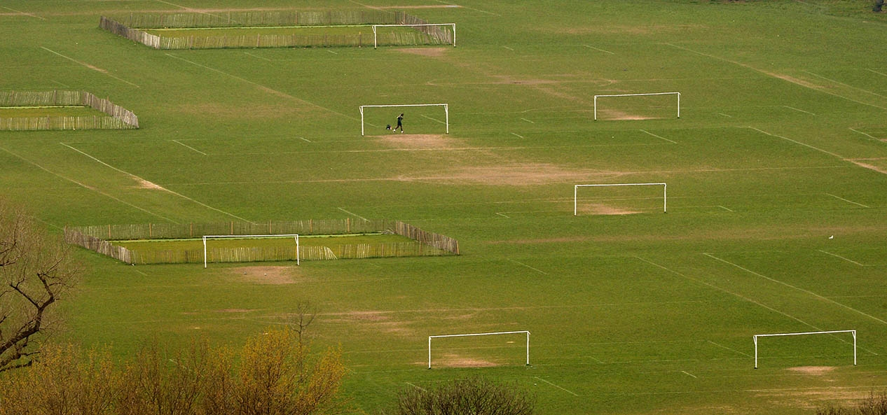 Football pitches from the sky