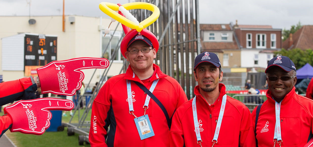 Volunteers at the ICC Women's Cricket World Cup 2017