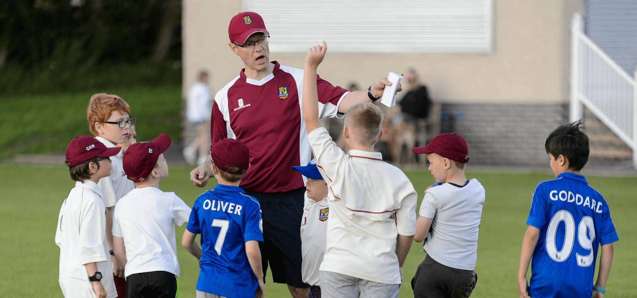 Safeguarding cricket coaching session