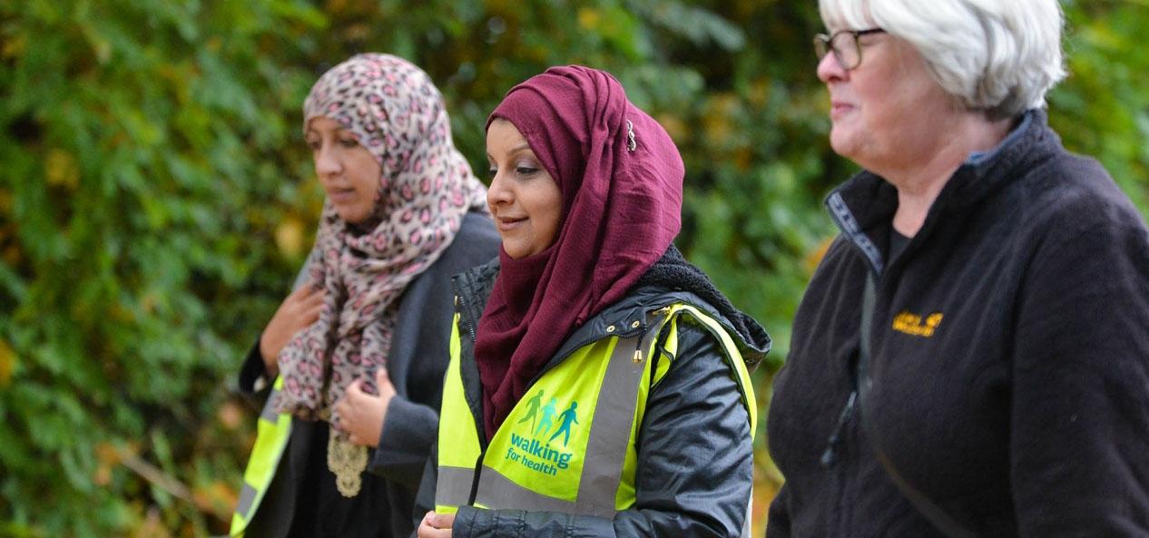 A group of women walking