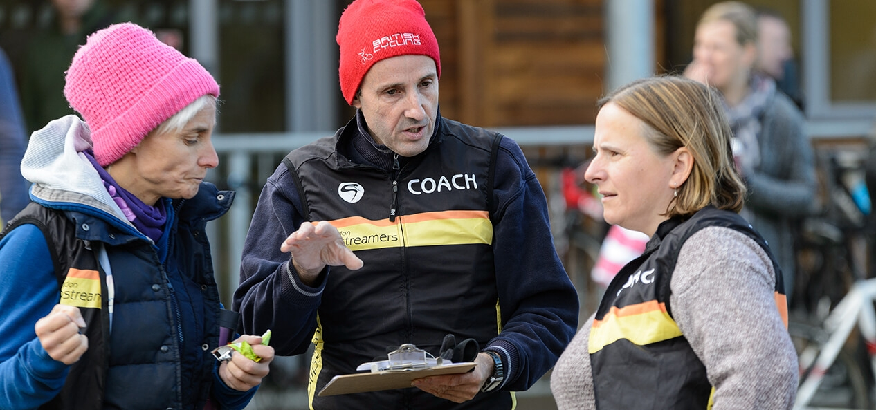 Hillingdon Slipstreamers coaches in a discussion
