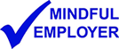 Mindful employer logo in blue