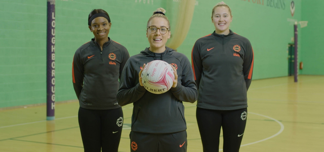 Three of England's netball team took part in the video.