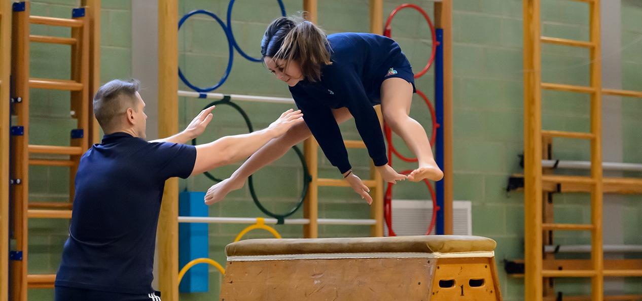 Gymnastics at a school
