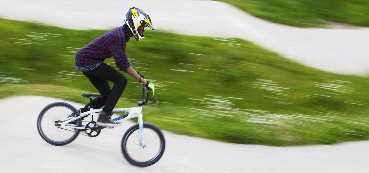 A BMX racer