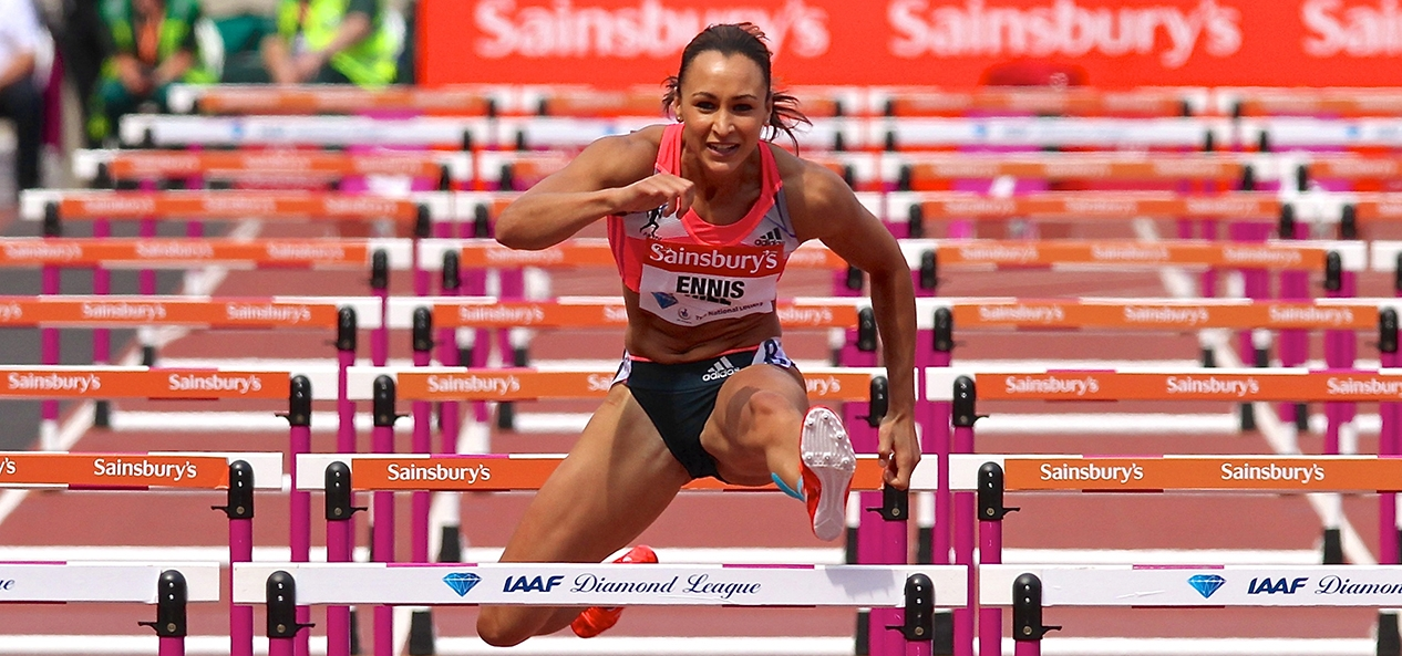 Jessica Ennis-Hill in action