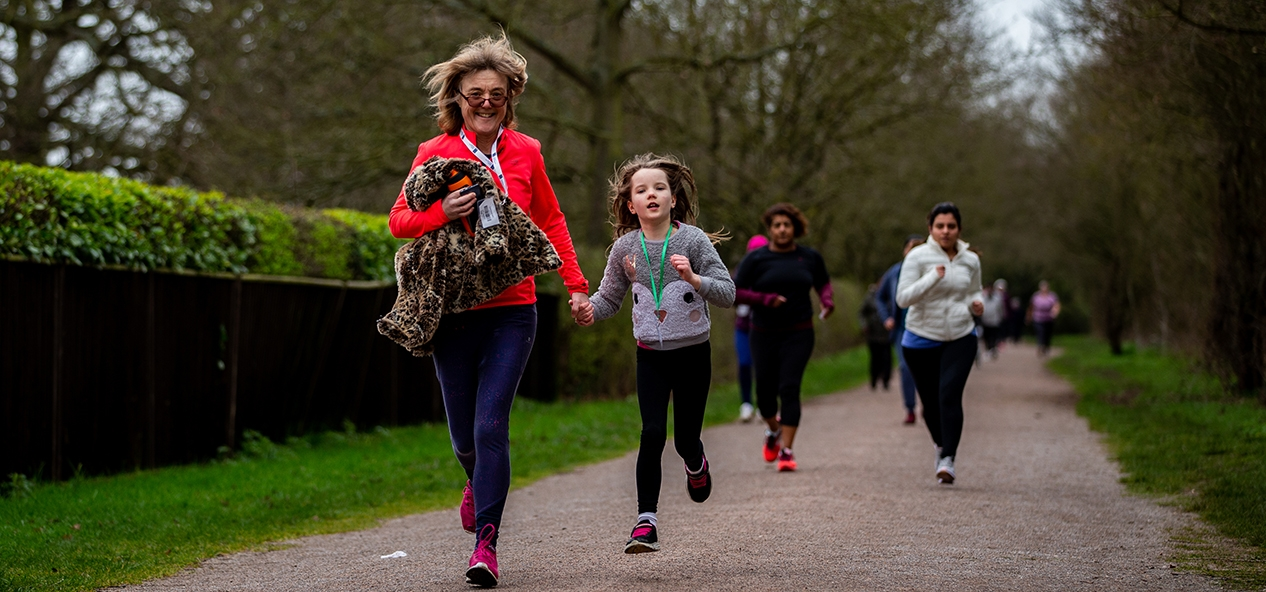 People taking part in a park run before the coronavirus crisis