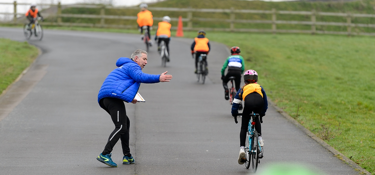 An outdoors youth cycling session at Lea Valley