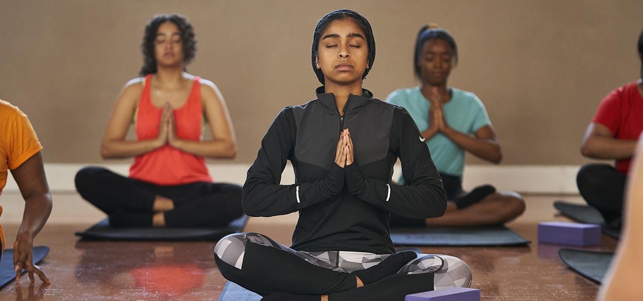 Women taking part in yoga