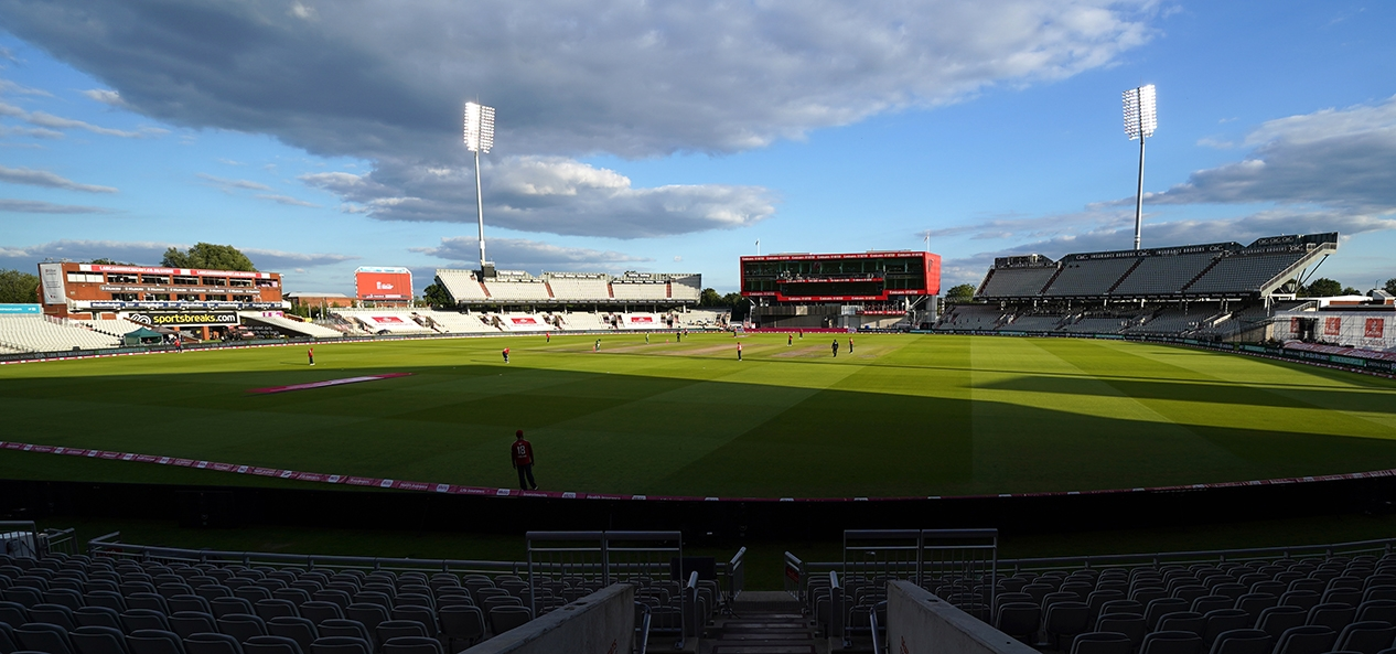 The England men's cricket team play Pakistan behind closed doors