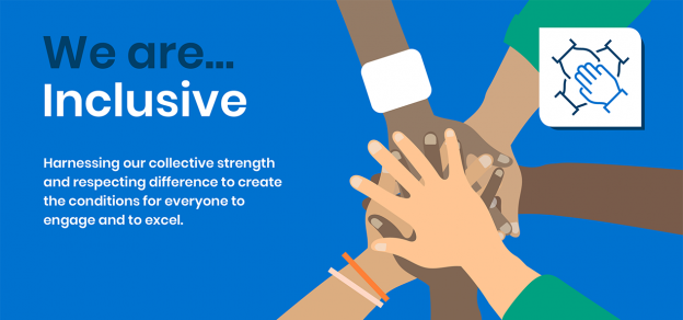 'We are inclusive' is one of our four values