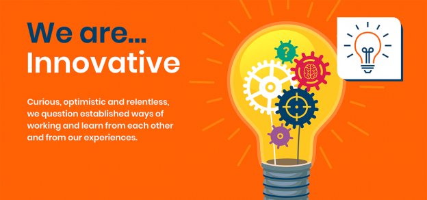 'We are innovative' is one of our four values