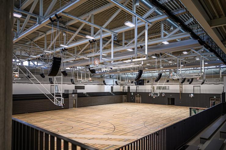 An empty sports hall